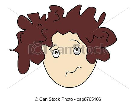Hair clipart messy hair Day Bad person messy with
