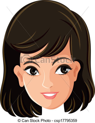 Hair clipart mother face Female's face of of Illustration