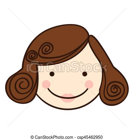Smile clipart mother face View silhouette cartoon of
