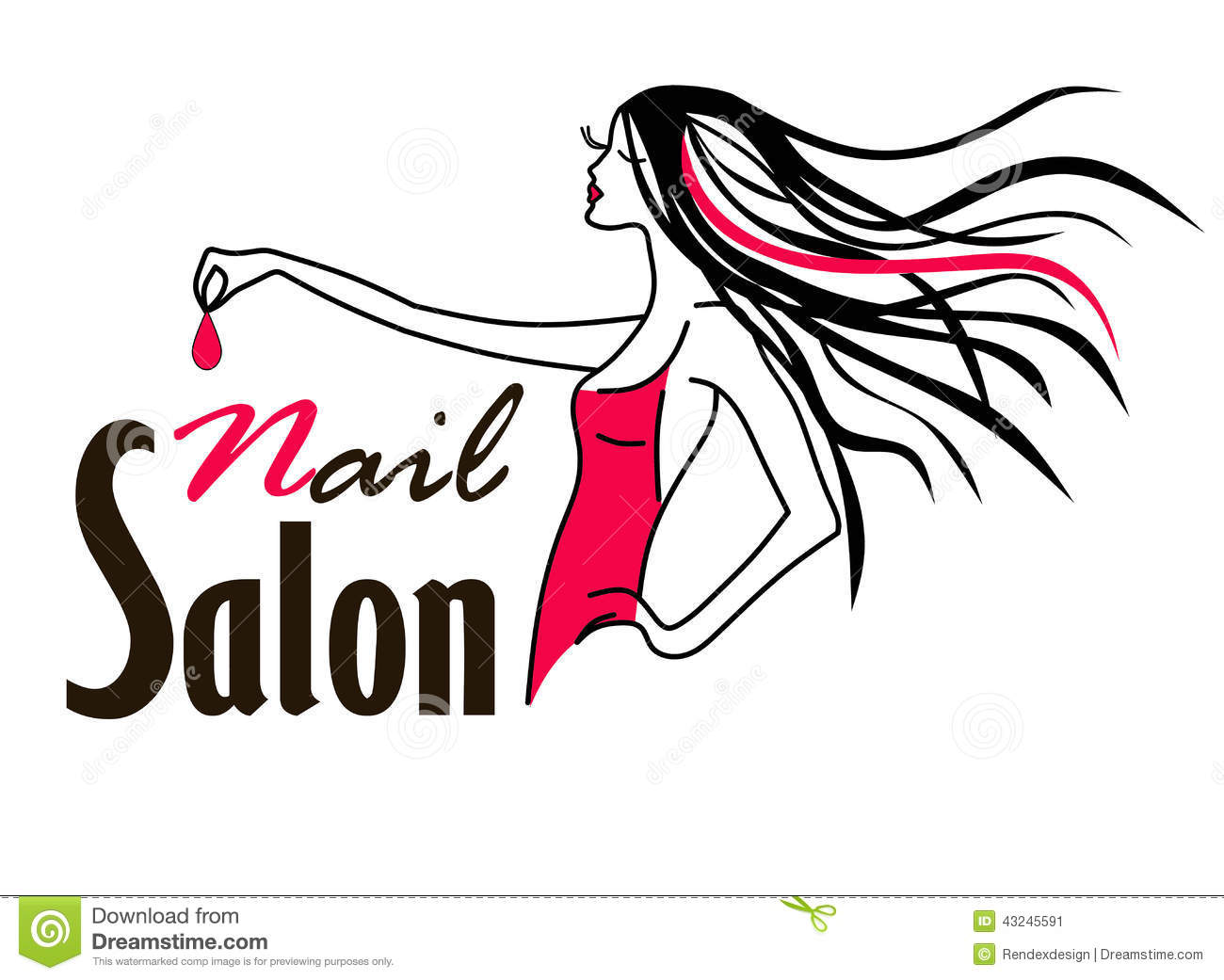 Hair clipart nail salon Clipart image Clipart as Collection