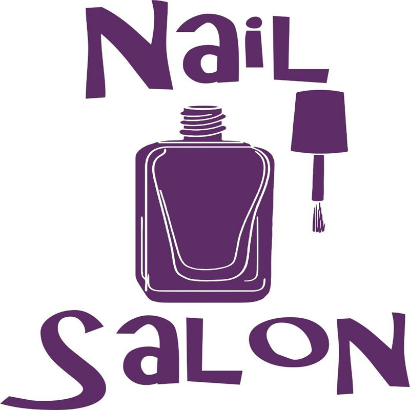 Hair clipart nail salon Massage Decals Salon Nail Beauty