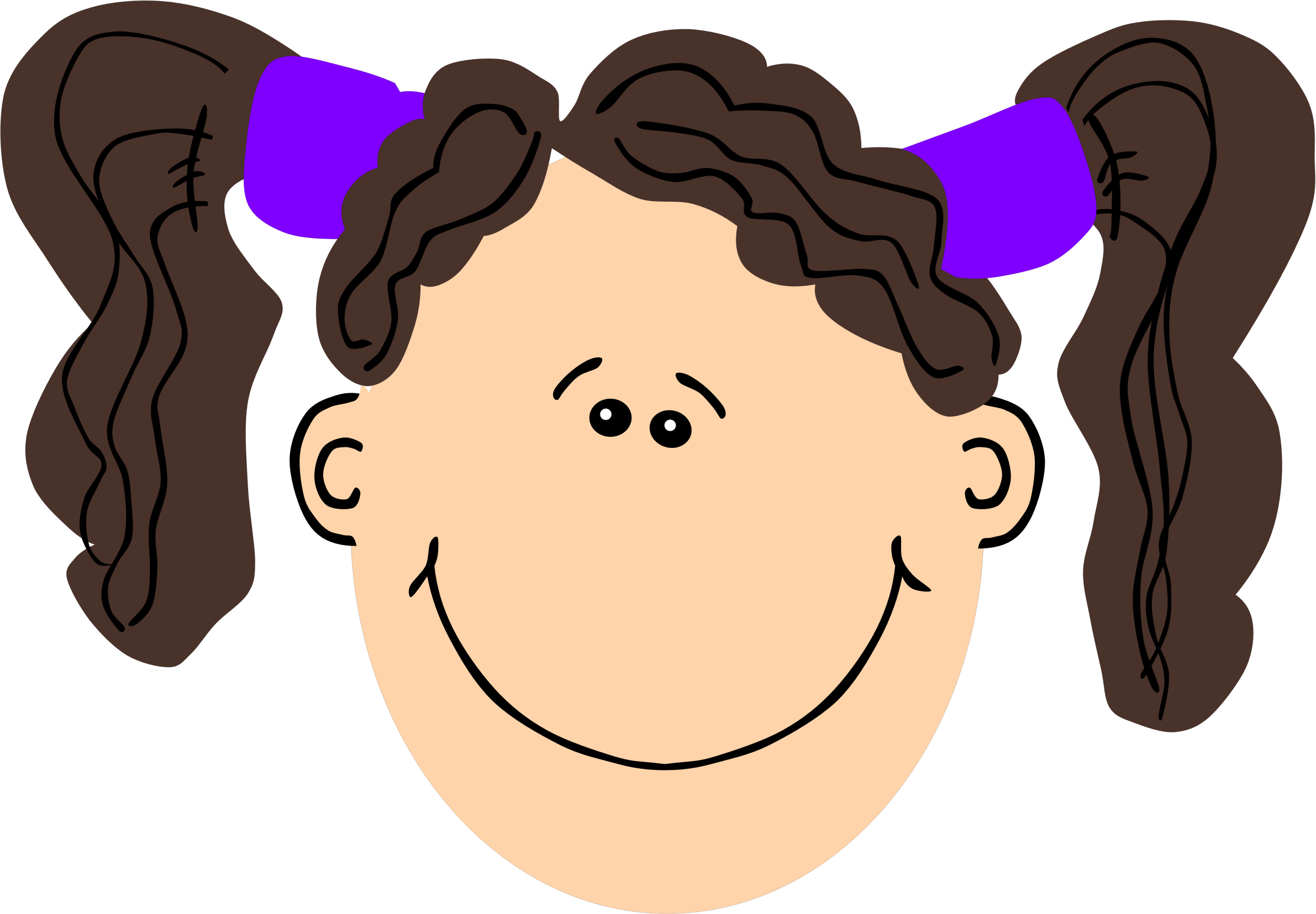 Hair clipart pigtail hair Pigtails girl Clipart and hair