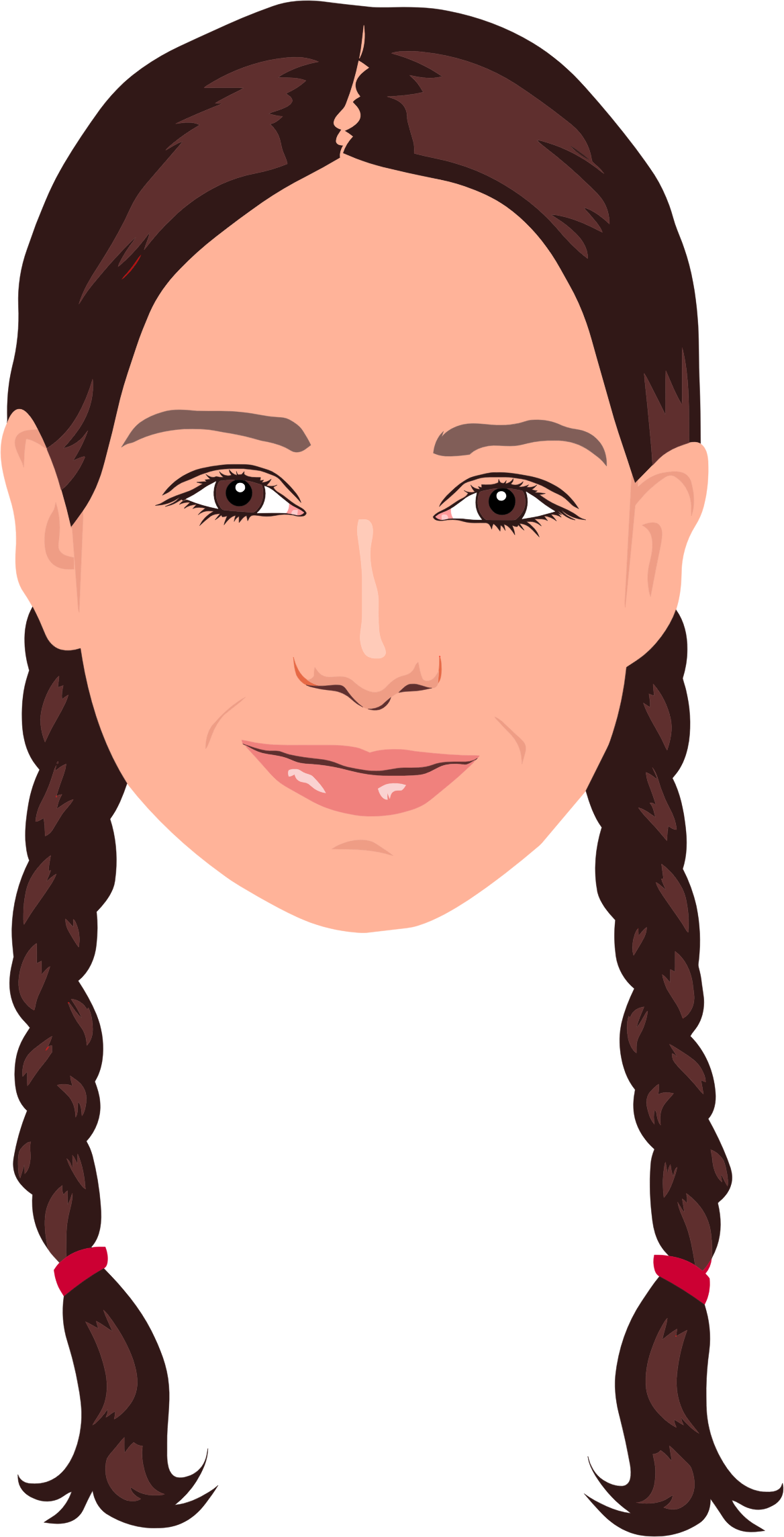 Red Hair clipart braided hair #3