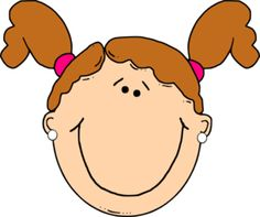Hair clipart pigtail hair Ponytails art clip art With