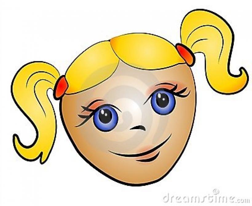 Hair clipart pigtail hair Blonde clipart hair blonde 400