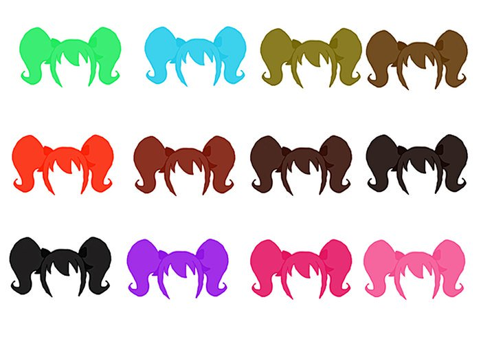 Hair clipart pigtail hair Cute Pigtails Girl Brusheezy! Brushes