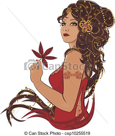 Beautiful clipart beautiful woman Portrait  woman Art with