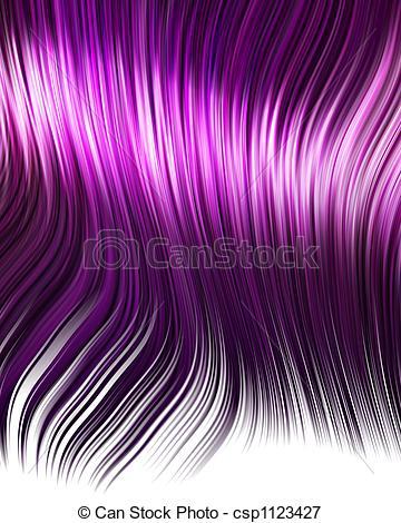 Hair clipart purple Of hair Illustration hair purple