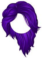 Hair clipart purple Fantasy Gallery Fantasy Hair Purple