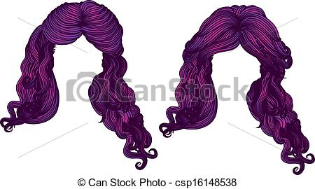 Hair clipart purple Of color hair of purple