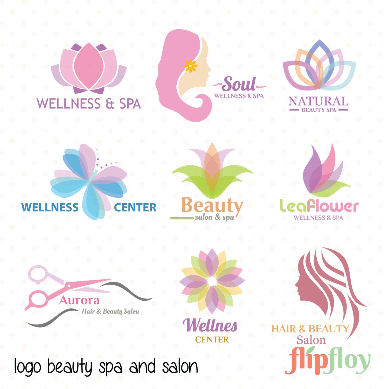 Hair clipart salon spa Salon Spa Beauty Logo
