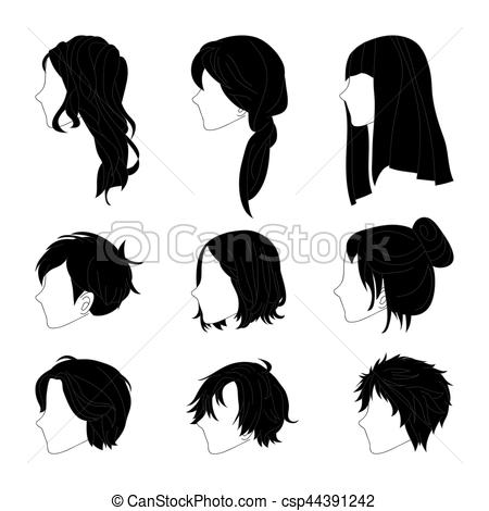 Hair clipart side face And  Collection Hair Side