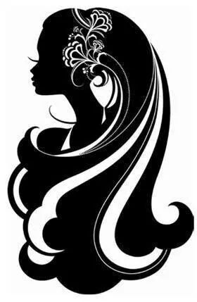 Hair clipart silhouette About this Hair Pin Silhouettes