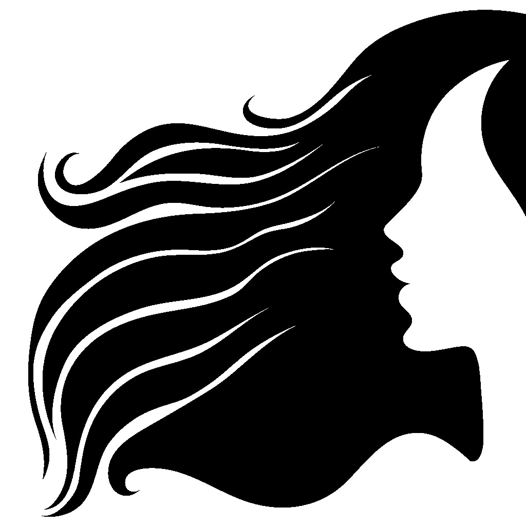 Hair clipart silhouette (1024×1024) this art Pin by