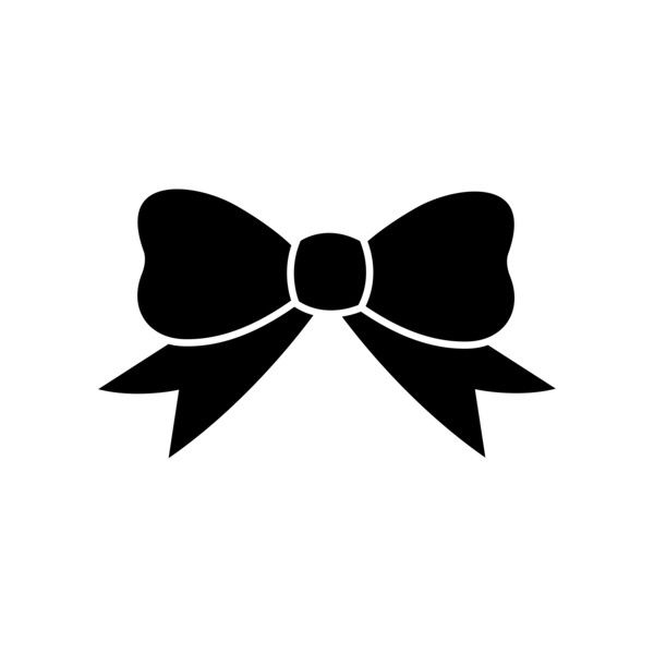 Tie clipart black bow ribbon Ribbon Simple online Free Simple