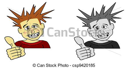Hair clipart spiky hair Hair in Stock up in