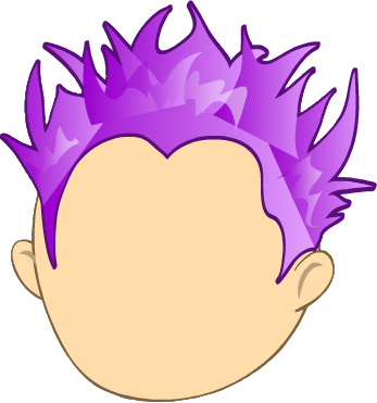 Hair clipart spiky hair Hair Hair Perm Purple High