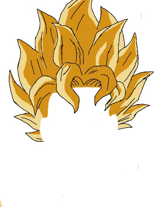 Hair clipart super saiyan #8