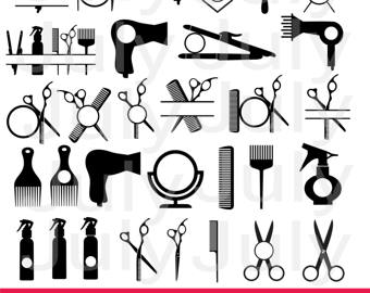 Hair clipart tool Salon ai SVG clipart Hairdresser