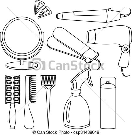 Hair clipart tool Of icons and Hair tools