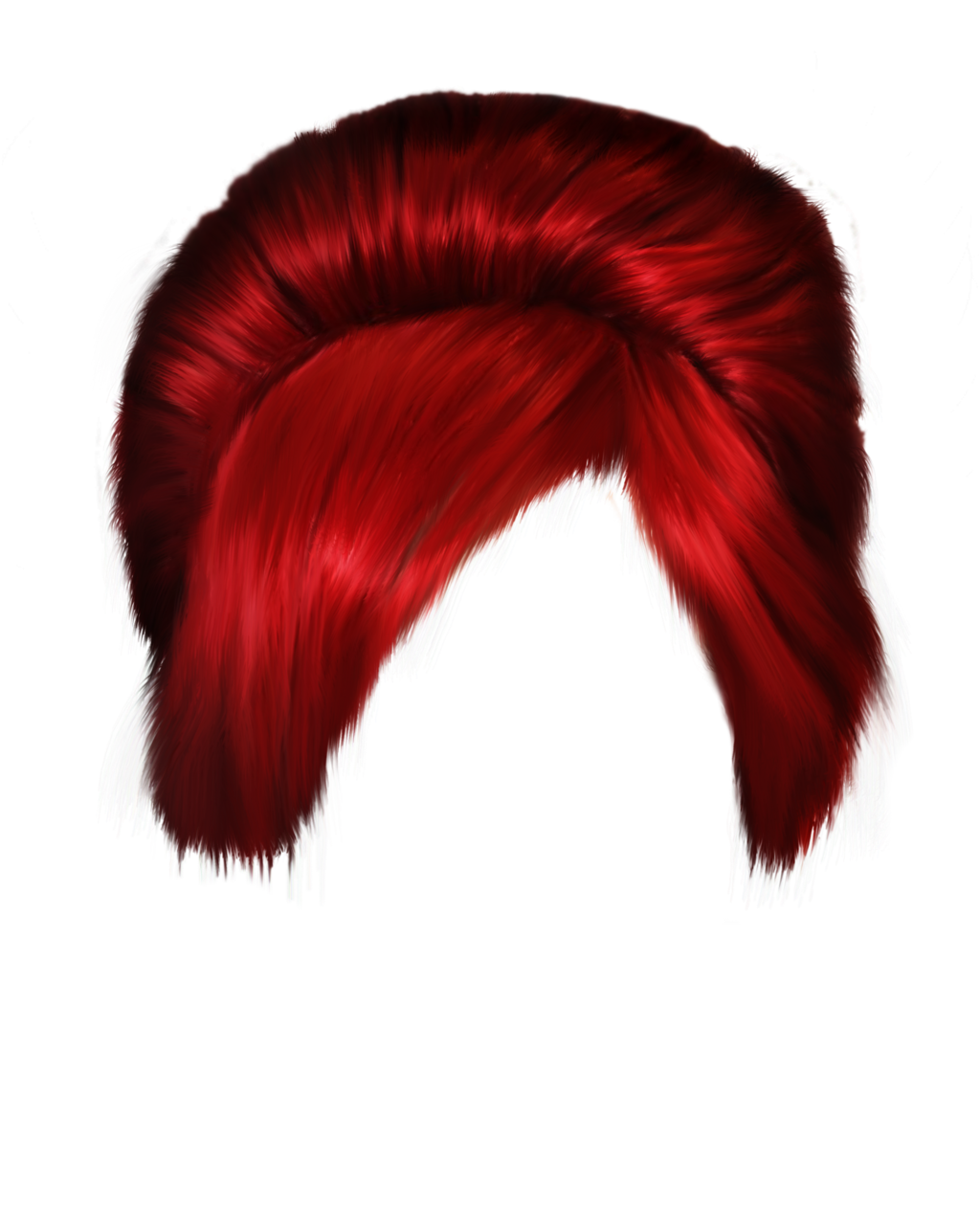 Red Hair clipart wig #12
