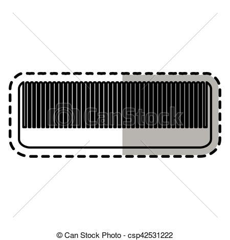 Hair clipart utensil Comb supply Vector theme design