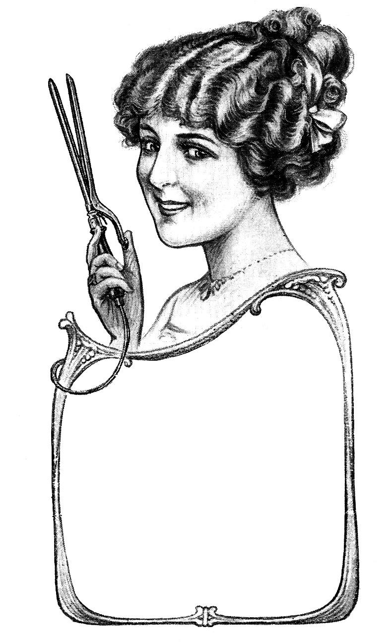 Hair clipart vintage salon Clipart Download Salon Salon Clipart