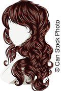 Hair clipart wavy  Long 367 EPS Hair