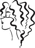 Hair clipart wavy Hair with Clip Art Free