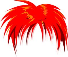 Red Hair clipart wig #2