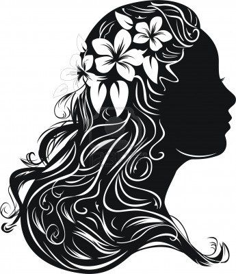 Hair clipart women's hair 66 Beautiful on Hair Stock