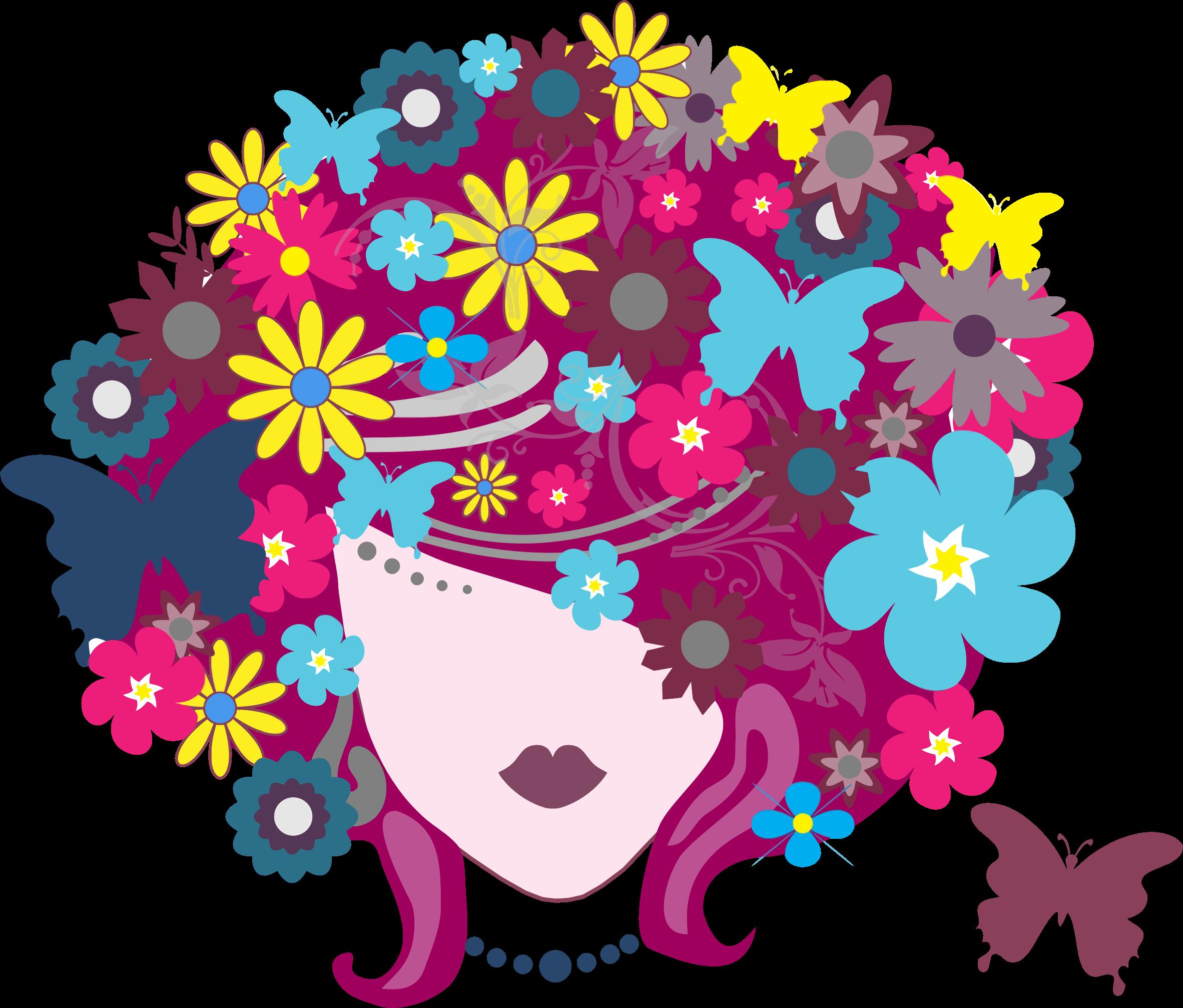 Hair clipart women's hair Floral Floral Hair Clipart Hair