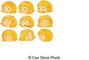 Hair clipart yellow hair Different  of  hair