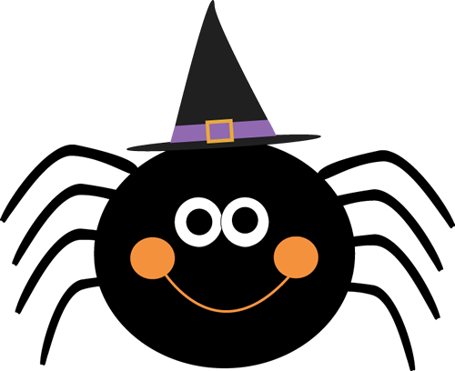 Smiley clipart spider Hat Halloween Witches Art Images