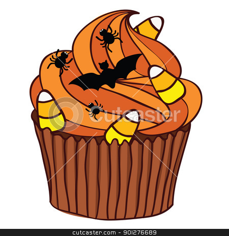 Halloween clipart bake sale Cupcake vector Halloween stock Halloween