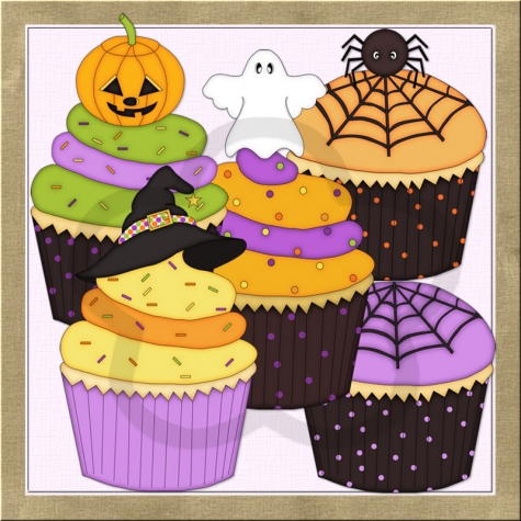 Halloween clipart birthday cake Clipart Clip 00 Cupcakes Graphics