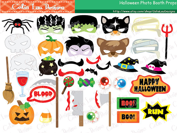 Halloween clipart photo booth Props item? Booth this Halloween