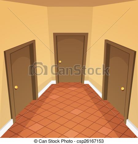 Corridor clipart house hallway Clipart of graphic  House