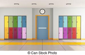 Hallway clipart 2 Illustrations lockers student free