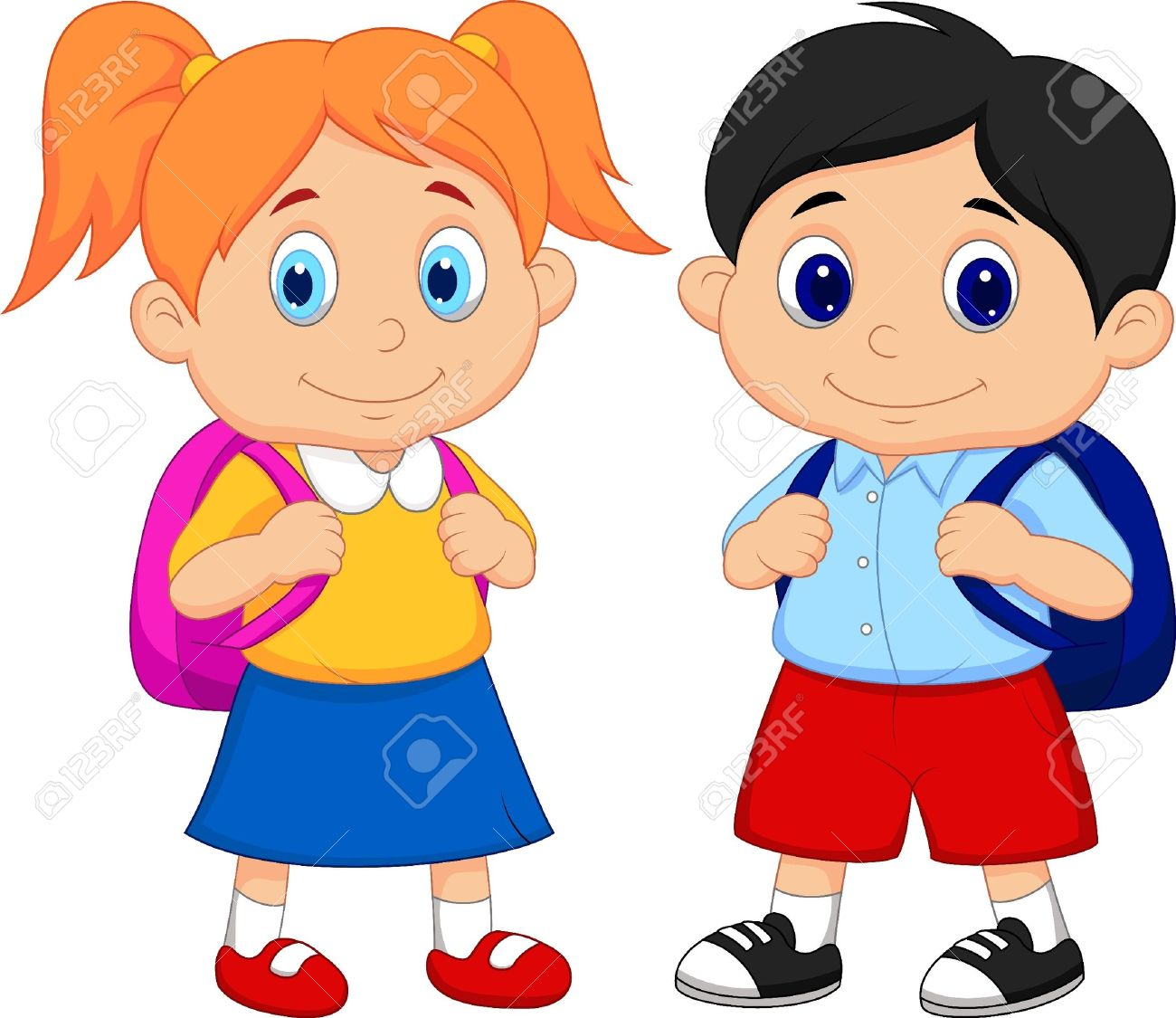 Hallway clipart animated & collection Cartoon hallway Students