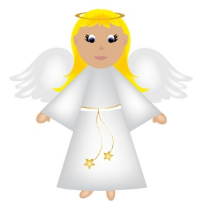 Halo clipart angelic Clip christmas wings angel with