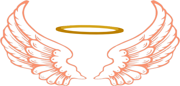 Halo clipart baby angel wing Heart Free And  Wings