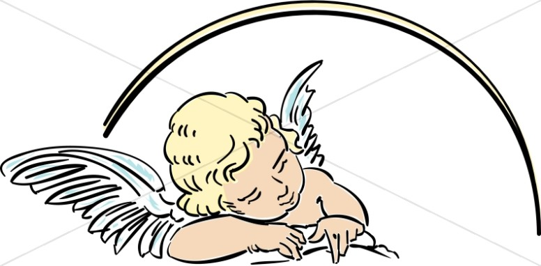 Angel clipart line art Angel Angel Baby Baby Angel