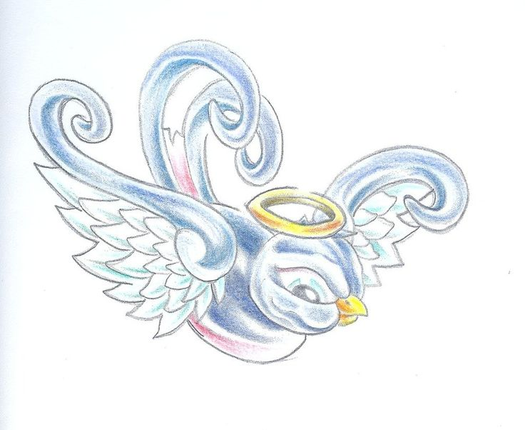 Halo clipart baby angel wing Sparrow Drawings #rip Free Angel