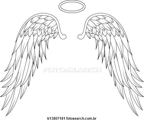 Halo clipart baby angel wing Angel free Illustrations Angel art