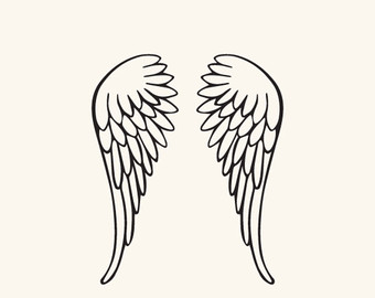 Halo clipart baby angel wing SVG wings File Silhouette and