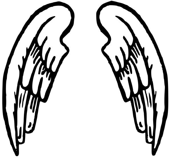 Halo clipart black and white Images White 28 And Wings