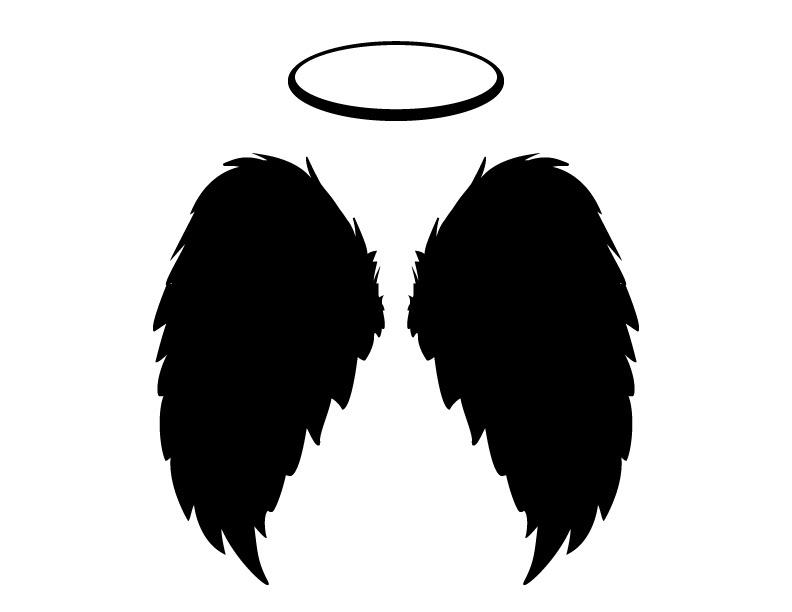 Dark Angel clipart cute angel Vector included best JPGs Halo