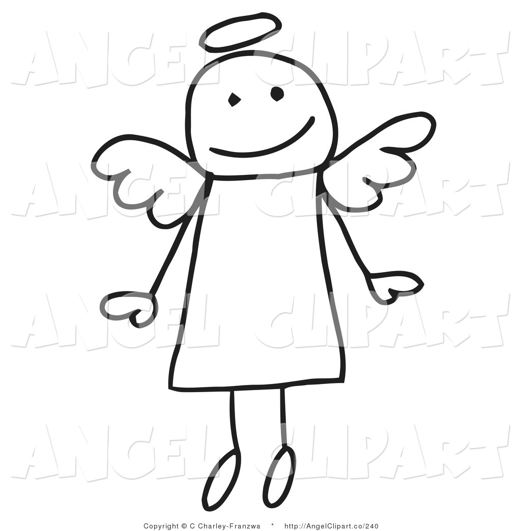 Halo clipart cute Angel Flying Free Page Figure
