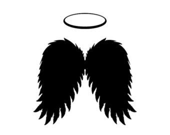Halo clipart dark angel – Black Clipart Scrapbooking Flying